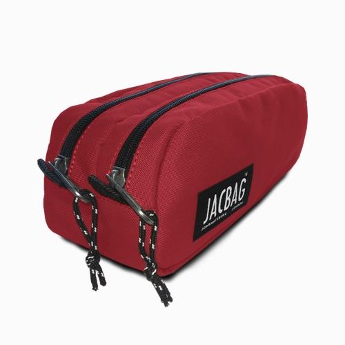 JACBAG Dual Pouch Red Kalem Çantası 7711