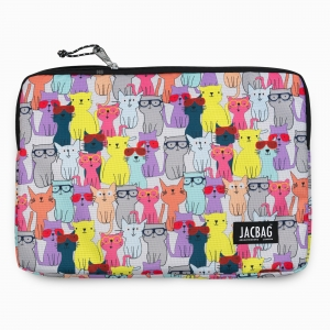 Jac Bag - JACBAG Notebook Pouch Large Jac-39 Cats 3187