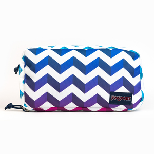 JANSPORT - JANSPORT Pixel Pouch Shadow Chevron Organizer 3346