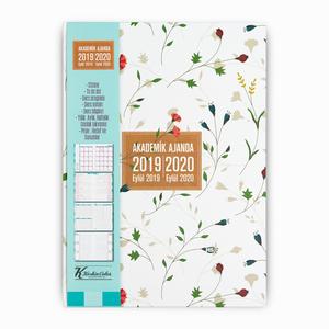 Keskin Color - Keskin Color 2019-2020 Akademik Ajanda Karanfiller 9108