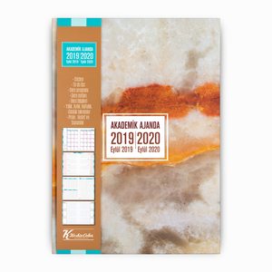Keskin Color - Keskin Color 2019-2020 Akademik Ajanda Mermer 9092