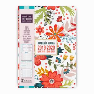 Keskin Color - Keskin Color 2019-2020 Akademik Ajanda Modern Çiçek 2260