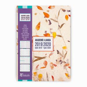 Keskin Color - Keskin Color 2019-2020 Akademik Ajanda Yapraklar 9115