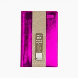 Keskin Color - Keskin Color 2019 A5 Günlük Ajanda Metalik Fuşya 832792-99 6795