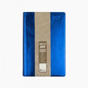 Keskin Color - Keskin Color 2019 A5 Günlük Ajanda Metalik Mavi 832792-99 6795