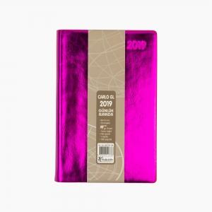 Keskin Color - Keskin Color 2019 A6 Günlük Ajanda Metalik Fuşya 832791-99 6788