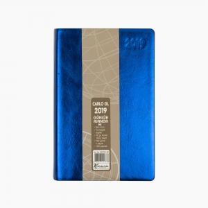 Keskin Color - Keskin Color 2019 A6 Günlük Ajanda Metalik Mavi 832791-99 6788