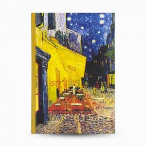 Keskin Color - Keskin Color Cafe Terrace At Night A5 Çizgili Defter 3820