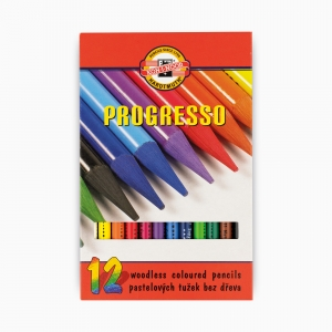 Kohinoor - Koh-i-noor Ahşapsız 12 Renk Boya Kalem Seti 8756 2239
