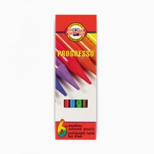 Kohinoor - Koh-i-noor Ahşapsız 6 Renk Boya Kalem Seti 8755 2222