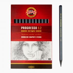 Kohinoor - Koh-i-noor Ahşapsız 6B Grafit Kalemi 8911/6B 5858