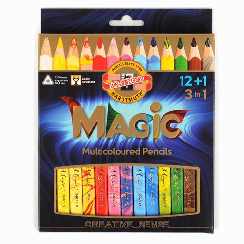 Koh-i-noor Jumbo Magic Pencil 12+1 Set 3408 8606