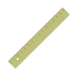 Kum - KUM 15 cm Pastel Sarı Cetvel