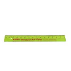 Kum - KUM 15 cm Yeşil Şeffaf Cetvel