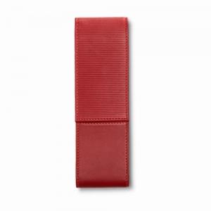 Lamy - Lamy 2'li Deri Kalem Kılıfı Kırmızı