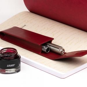 Lamy - Lamy 2'li Deri Kalem Kılıfı Kırmızı (1)