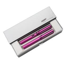 Lamy - Lamy Al Star Vibrant Pink Special Edition Dolma Kalem-Roller Kalem Seti