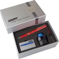 Lamy - Lamy Safari Dolma Kalem Kırmızı Set