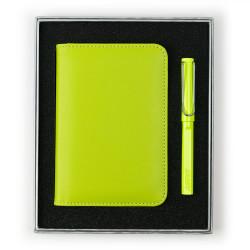 Lamy - LAMY Safari Neon Lime Roler Kalem Notluk Set