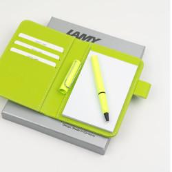 Lamy - LAMY Safari Neon Lime Roler Kalem Notluk Set (1)