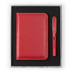 Lamy - LAMY Safari Red Dolma Kalem Notluk Set