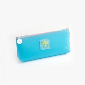 Languo - Languo Colorful Style Kalem Çantası Mavi LG-8483