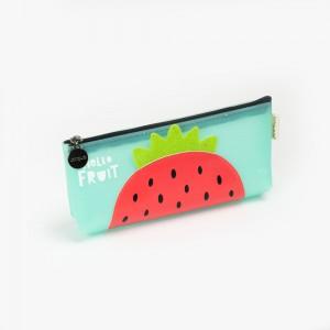 Languo - Languo Hello Fruit Kalem Çantası Turkuaz LG-8486
