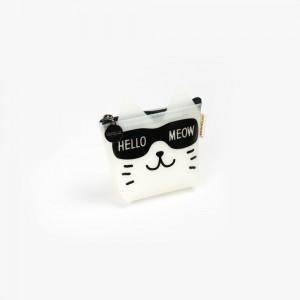 Languo - Languo Hello Meow Cüzdan Beyaz LG-8490