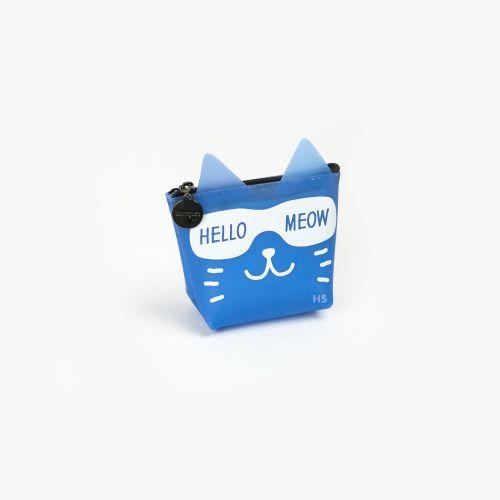 Languo Hello Meow Cüzdan Mavi LG-8490