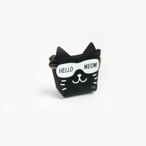 Languo - Languo Hello Meow Cüzdan Siyah LG-8490