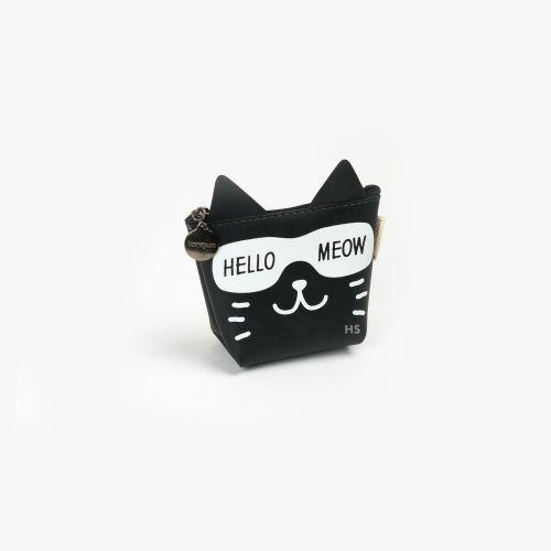 Languo Hello Meow Cüzdan Siyah LG-8490