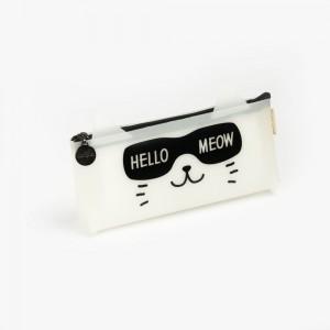 Languo - Languo Hello Meow Kalem Çantası Beyaz LG-8489