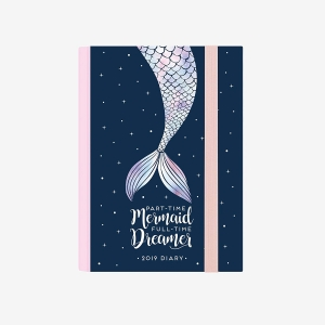 Legami - Legami 2019 Small 12 Aylık Günlük Ajanda Mermaid AG122082 9037