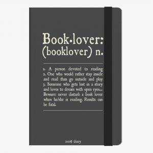 Legami - Legami Booklover 2019 Medium 12 Aylık Haftalık Ajanda AG122090 9112