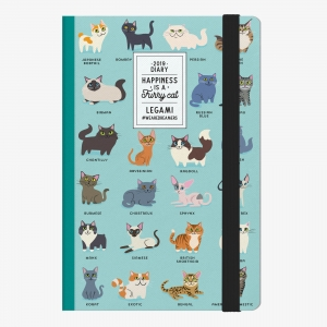 Legami - Legami Funny Cat 2019 Medium 12 Aylık Haftalık Ajanda AG122092 9136