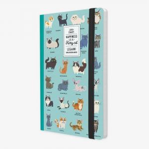 Legami - Legami Funny Cat 2019 Medium 12 Aylık Haftalık Ajanda AG122092 9136 (1)