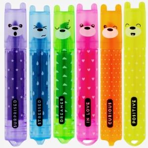 Legami - Legami Teddy's Mood 6lı Mini İşaretleme Kalem Seti
