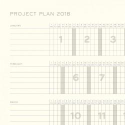 Leuchtturm1917 2018 Daily Planner Fuşya - Thumbnail