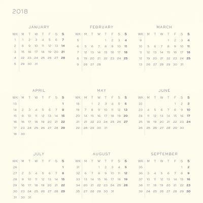 Leuchtturm1917 2018 Daily Planner Siyah