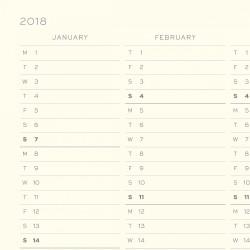 Leuchtturm1917 2018 Daily Planner Siyah - Thumbnail