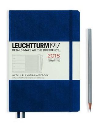 Leuchtturm1917 2018 Weekly Planner Lacivert