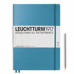 Leuchtturm1917 - Leuchtturm1917 A4 Master Slim Çizgisiz Nordic Blue