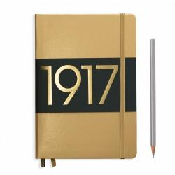 Leuchtturm1917 - Leuchtturm1917 A5 100.Yıl Limited Edition Çizgili Gold