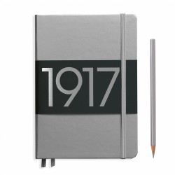 Leuchtturm1917 - Leuchtturm1917 A5 100.Yıl Limited Edition Çizgili Silver