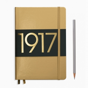 Leuchtturm1917 - Leuchtturm1917 A5 100.Yıl Special Edition A5 Dot (Noktalı) Defter Gold 355676 7858