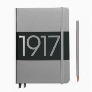 Leuchtturm1917 - Leuchtturm1917 A5 100.Yıl Special Edition A5 Dot (Noktalı) Defter Silver 355678 7872