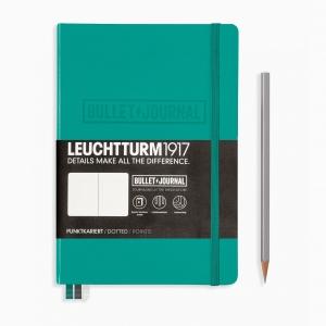 Leuchtturm1917 - Leuchtturm1917 A5 Bullet Journal Edition Dot (Noktalı) Defter Emerald 355280 5052