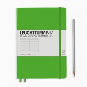 Leuchtturm1917 - Leuchtturm1917 A5 Çizgili Defter Fresh Green 357488 0692
