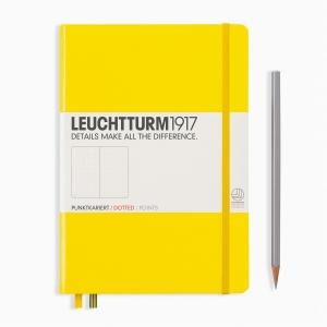 Leuchtturm1917 - Leuchtturm1917 A5 Dot (Noktalı) Defter Lemon 344800 4878