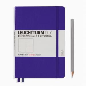 Leuchtturm1917 - Leuchtturm1917 A5 Dot (Noktalı) Defter Purple 346687 4418